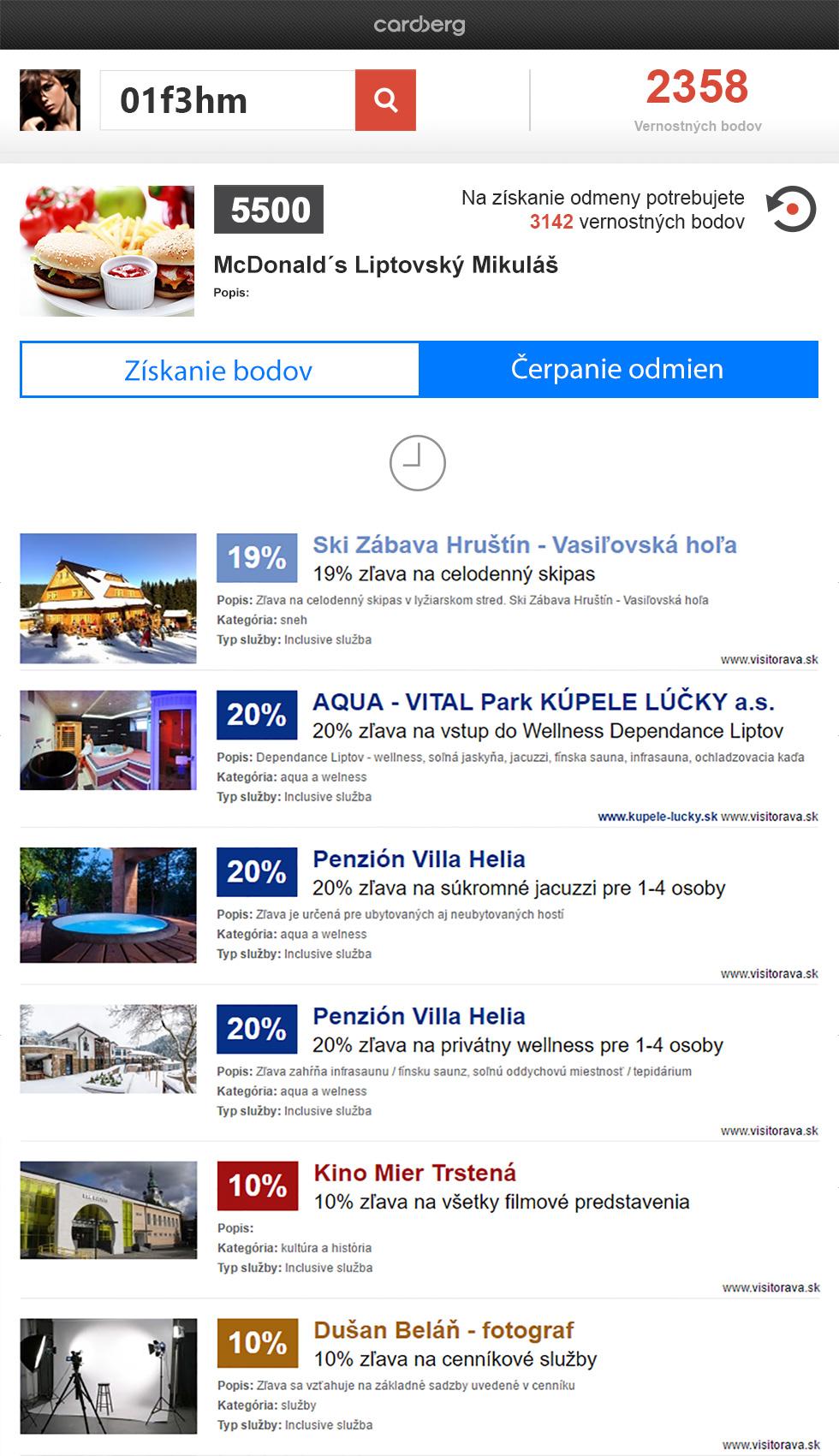 Die Daten über Nachlässe können auf beliebige Webseite exportiert werden. Alle aktuellen Rabatte, die der Gast nutzen kann, sind im Export angezeigt.